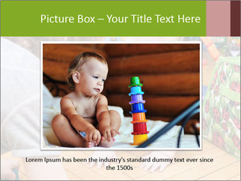 Kids playing on the floor of the childrens room PowerPoint Template - Slide 15