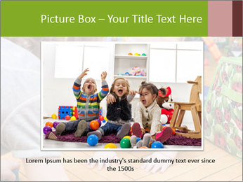 Kids playing on the floor of the childrens room PowerPoint Template - Slide 16