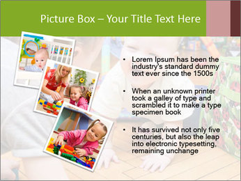 Kids playing on the floor of the childrens room PowerPoint Template - Slide 17