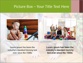 Kids playing on the floor of the childrens room PowerPoint Template - Slide 18