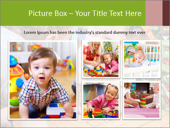 Kids playing on the floor of the childrens room PowerPoint Template - Slide 19
