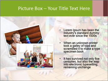 Kids playing on the floor of the childrens room PowerPoint Template - Slide 20