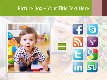 Kids playing on the floor of the childrens room PowerPoint Template - Slide 21