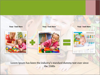 Kids playing on the floor of the childrens room PowerPoint Template - Slide 22