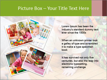 Kids playing on the floor of the childrens room PowerPoint Template - Slide 23