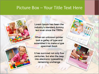 Kids playing on the floor of the childrens room PowerPoint Template - Slide 24