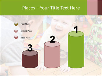 Kids playing on the floor of the childrens room PowerPoint Template - Slide 65