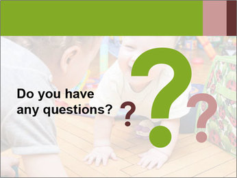 Kids playing on the floor of the childrens room PowerPoint Template