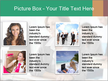 Businesswoman working on desktop computer PowerPoint Template - Slide 14