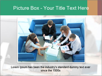 Businesswoman working on desktop computer PowerPoint Template - Slide 15