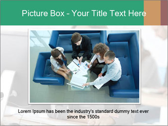 Businesswoman working on desktop computer PowerPoint Template - Slide 16