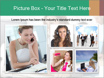 Businesswoman working on desktop computer PowerPoint Template - Slide 19