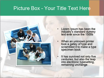 Businesswoman working on desktop computer PowerPoint Template - Slide 20