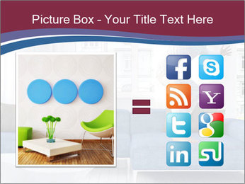 Man dancing on a blue couch PowerPoint Template - Slide 21
