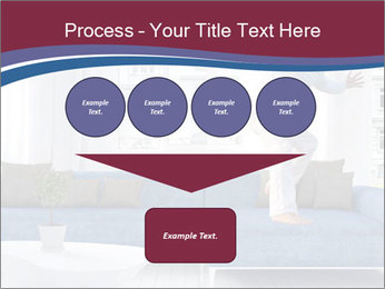 Man dancing on a blue couch PowerPoint Template - Slide 93