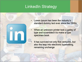 People with Startup Business Talking in a Cafe PowerPoint Template - Slide 12