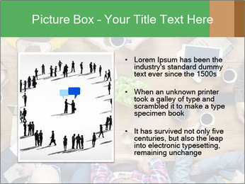 People with Startup Business Talking in a Cafe PowerPoint Template - Slide 13