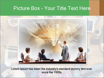 People with Startup Business Talking in a Cafe PowerPoint Template - Slide 15
