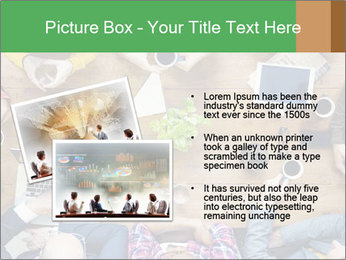 People with Startup Business Talking in a Cafe PowerPoint Template - Slide 20