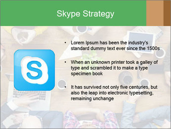 People with Startup Business Talking in a Cafe PowerPoint Template - Slide 8
