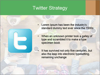 People with Startup Business Talking in a Cafe PowerPoint Template - Slide 9