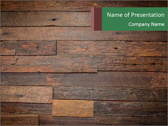 Old wooden background PowerPoint Template - Slide 1