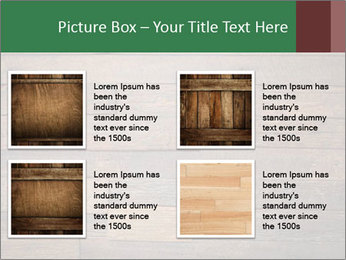 Old wooden background PowerPoint Template - Slide 14