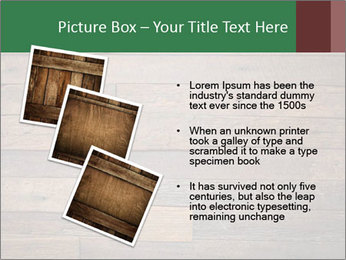 Old wooden background PowerPoint Template - Slide 17