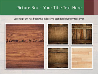 Old wooden background PowerPoint Template - Slide 19