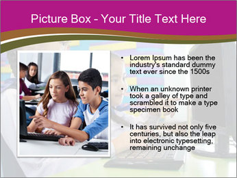 Asian girl using computer PowerPoint Template - Slide 13