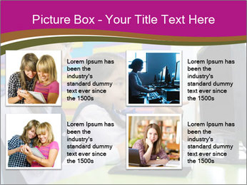 Asian girl using computer PowerPoint Template - Slide 14