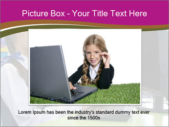 Asian girl using computer PowerPoint Template - Slide 15