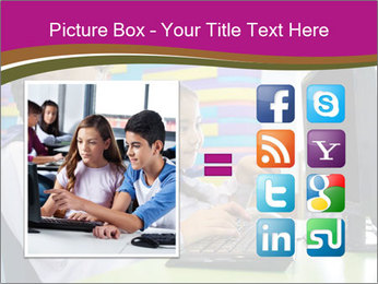 Asian girl using computer PowerPoint Template - Slide 21