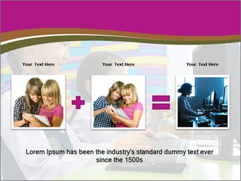 Asian girl using computer PowerPoint Template - Slide 22