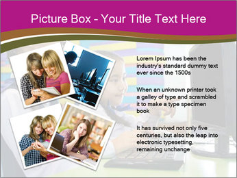 Asian girl using computer PowerPoint Template - Slide 23