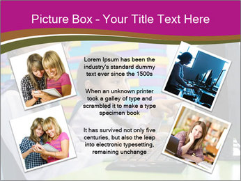 Asian girl using computer PowerPoint Template - Slide 24