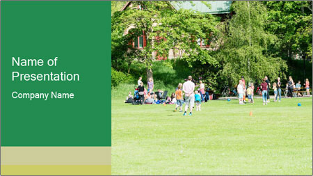 Summer Day In Park PowerPoint Template