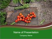 Veggies For Cooking PowerPoint Template