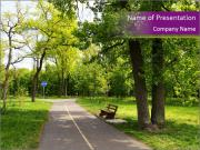 Green City Park PowerPoint Template