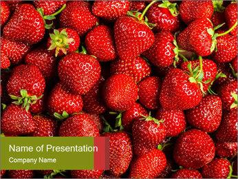 Sweet Strawberries PowerPoint Template - Slide 1