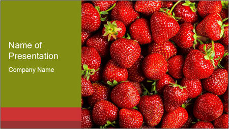 Sweet Strawberries PowerPoint Template - Slide 1