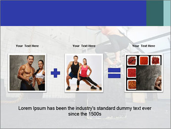 Woman In Fitness Studio PowerPoint Template - Slide 22