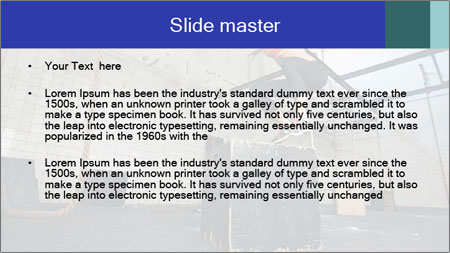 Woman In Fitness Studio PowerPoint Template - Slide 2