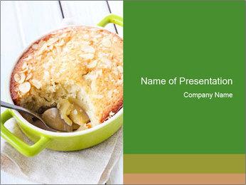 Apple Cake PowerPoint Template - Slide 1