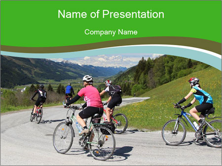 Biking Route PowerPoint Template