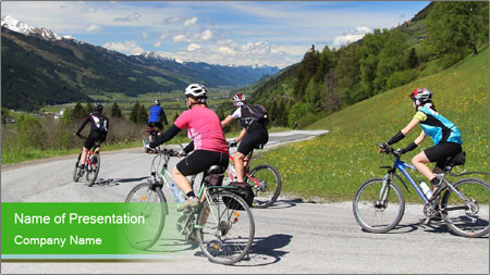 Biking Route PowerPoint Template