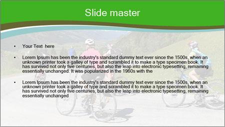 Biking Route PowerPoint Template - Slide 2