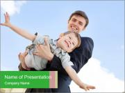 Father Playing With Son PowerPoint Template