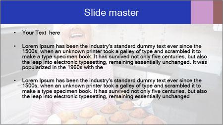 Grandmother Baking Cupcakes PowerPoint Template - Slide 2