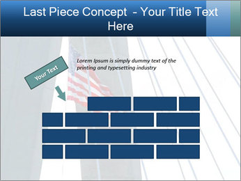 Bridge And American Flag PowerPoint Template - Slide 46